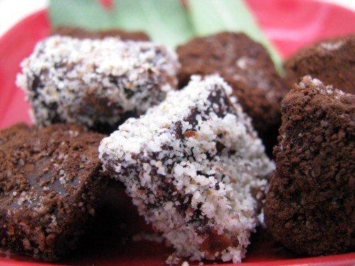 טראפלס שוקולד עם מרווה ובוטנים קלויים