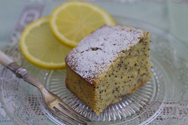 עוגת לימון ופרג
